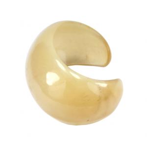 Bracelet en Corne de buffle Manchette Ronde claire