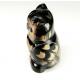 Ensemble de statuettes en corne de buffle chouettes tailles multiples