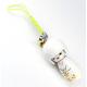 Bijou de sac Kokeshi Poupée japonaise en bois couleur Blanche Taille 5 cm
