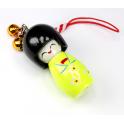 Bijou de sac Kokeshi Poupée japonaise en bois couleur Flashy Taille 5 cm