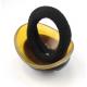 Chou-chou élastique à cheveux en corne de buffle Claire et noire incrustée de nacre