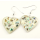 Boucle d'oreille en nacre abalone - Coeur clair
