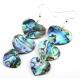 Boucle d'oreille en nacre abalone - Pendentif triple coeur