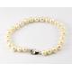 Bracelet traditionnel perle d'eau douce Blanche Fermoir argent
