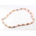 Traditional necklace 3 colors Freshwater Pearl Clasp 925 Sterling Silver Rhodium plated