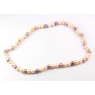 Collier traditionnel en perle d'eau douce 3 couleurs Fermoir argent