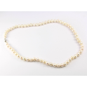 Traditional necklace White Freshwater Pearl Clasp 925 Sterling Silver Rhodium plated