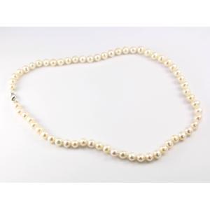 Collier traditionnel en perle d'eau douce Blanche Fermoir argent