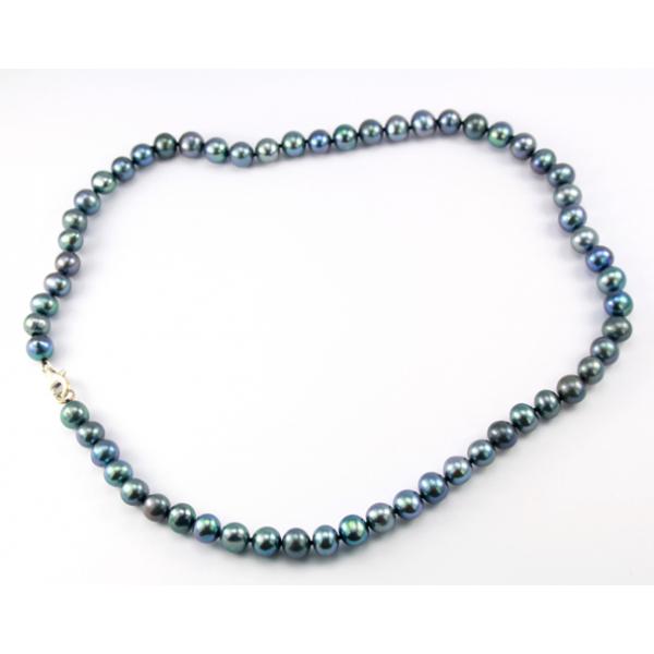 collier perle d'eau douce noire