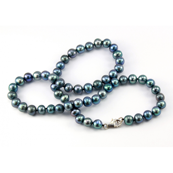 collier perle eau douce noire