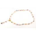 Necklace 14 K Gold Filled Chain Lavender and Peach Freshwater Pearl
