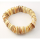Bracelet extensible en nacre demi rond plat