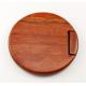 Miroir rond en bois incrusté de nacre