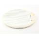 Miroir ovale en nacre blanche motif Tenue vietnamienne