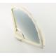 Miroir éventail en nacre blanche
