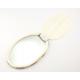 Miroir ovale en nacre blanche