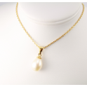 18KGP Gold Plated Pendant White Freshwater Pearl