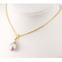 18KGP Gold Plated Pendant Lavender Freshwater Pearl