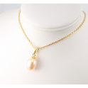 18KGP Gold Plated Pendant Peach Freshwater Pearl