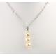 Pendentif Argent Massif Rhodié Triple Perle d'eau douce Golden