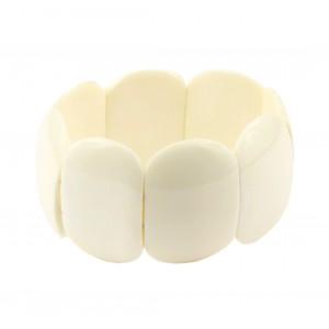 Bracelet en Os de buffle Fil extensible