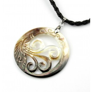 Necklace - Mother of Pearl from Tahiti - Flower of waves