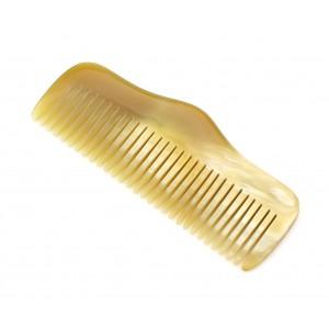 Véritable corne naturelle - Peigne droit Corne ambrée marbrée