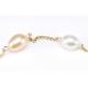 Bracelet Plaqué Or Chainette Perle Blanche et Pêche