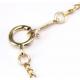 Bracelet Plaqué Or Chainette Perle Lavande et Pêche